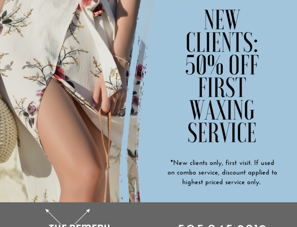 50% Off First Wax Service – New Clients